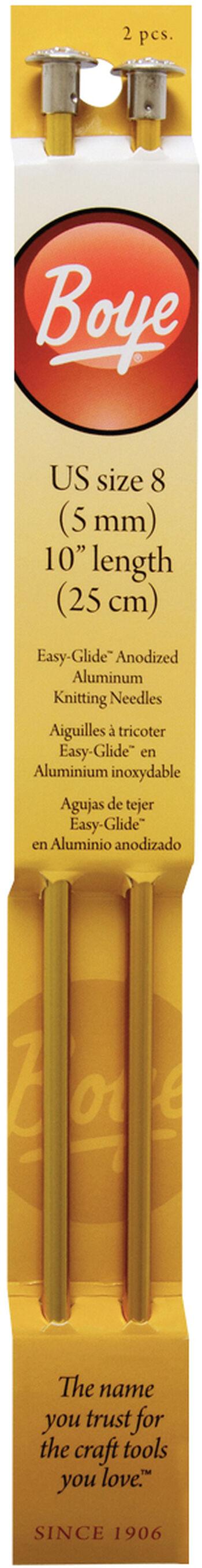 "Single Point Aluminum Knitting Needles 10""-Size 8/5mm"