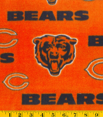 "Chicago Bears Fleece Fabric 58""-Orange"