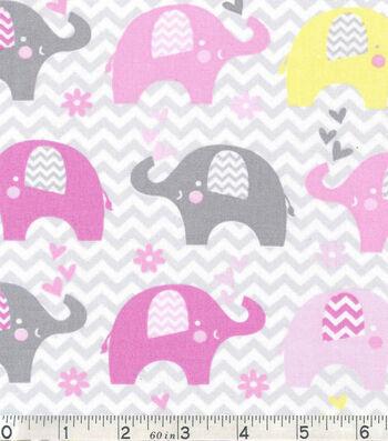"Nursery Cotton Fabric 43""-Dream Big Elephant"