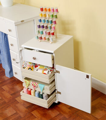 Homespun Suzi White Storage Unit