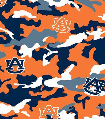 "Auburn University Tigers Cotton Fabric 44""-Camo"