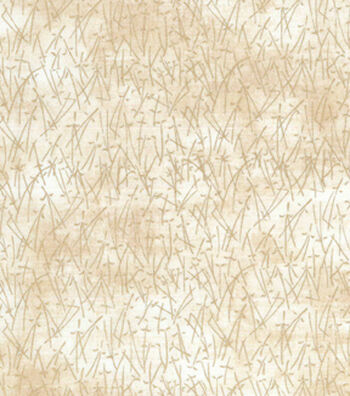 "Asian Inspired Cotton Fabric 43""-Gold Bamboo Metallic"