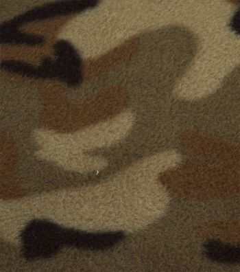 Blizzard Fleece Fabric 58''-Camouflage