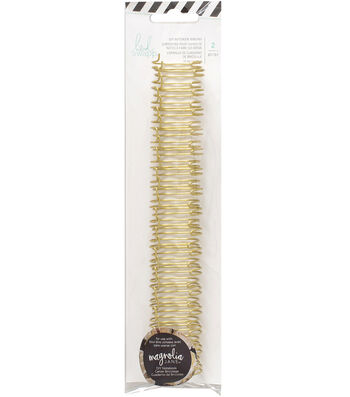 "Heidi Swapp Journal Notebook Cinch Binding Wire 1""-Gold"