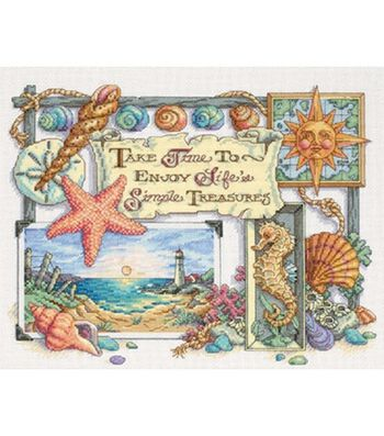 Dimensions Counted Cross Stitch Kit Simple Treasures