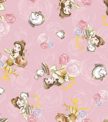 Disney Princess Knit Fabric 58''-Belle & Friends