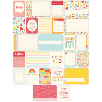 Project Life Themed Cards 60/Pkg-Girl