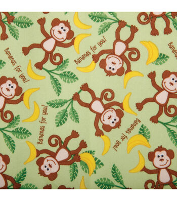 Babyville PUL Fabric-Monkys Green