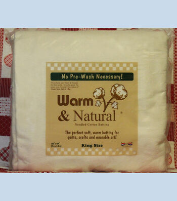 The Warm Company Warm & Natural® King Cotton Needled Batting