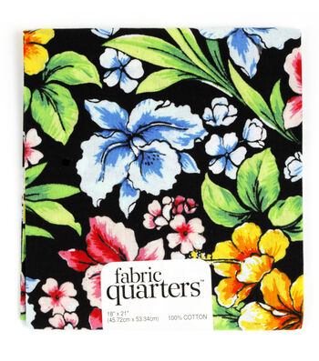 "Fabric Quarters Cotton Fabric 18""-Assorted Tropical Patterns"