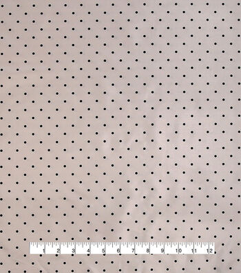 "Anti-Static Lining Fabric 58""-Black Dots"