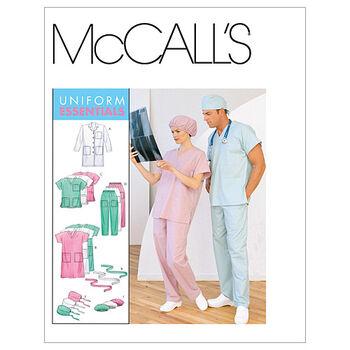 McCall's Patterns M6107 Adult Lab Coat & Scrubs-Size S-M-L