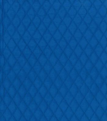 "Country Classic Double Faced Quilt Cotton Fabric 42""-Royal Blue Diamond"