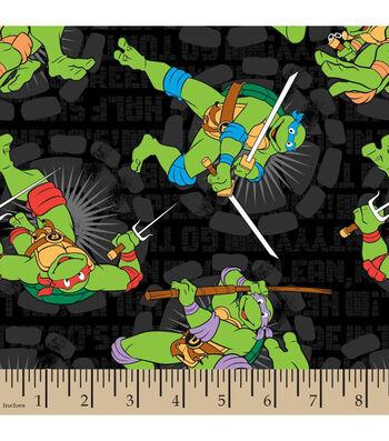 Teenage Mutant Ninja Turtles Turtle Word Toss Cotton Fabric