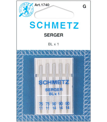 Schmetz Overlock Machine Needles 5/Pk-11/75,14/90