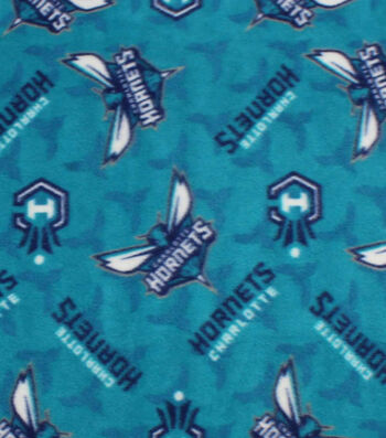 "Charlotte Hornets Fleece Fabric 58""-Logo Toss"