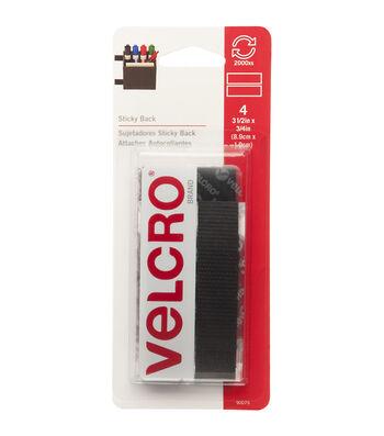 VELCRO® Brand Sticky-Back Tape 4pcs 0.75''x3.5''