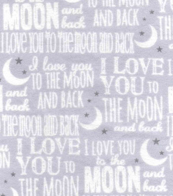 Nursery Flannel Fabric 42''-Love You To The Moon