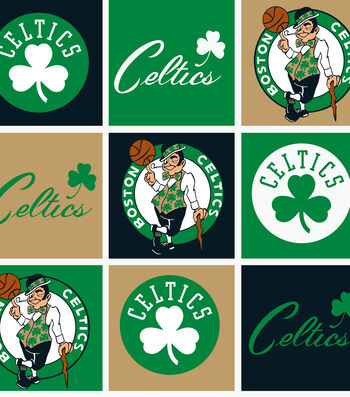 "Boston Celtics Fleece Fabric 58""-Block"