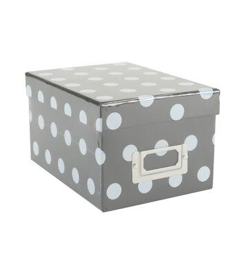 DCWV Mini Box: Black with polka dots
