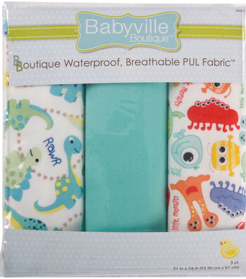 Babyville Dinos & Monsters Waterproof Diaper Fabric