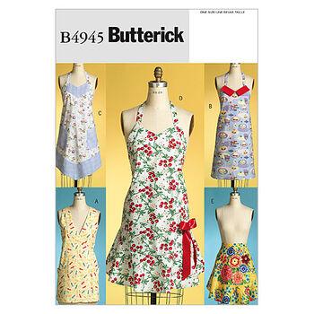 Butterick Pattern B4945 Misses' Aprons