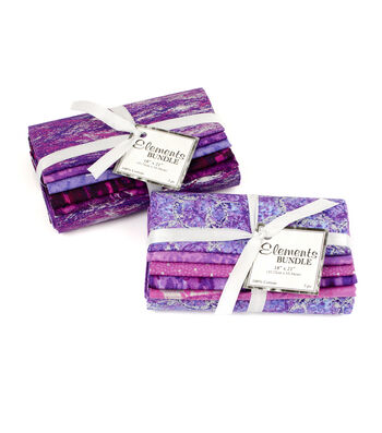 "Fat Quarter Bundle Cotton Fabric 18""-Purple Bundle"