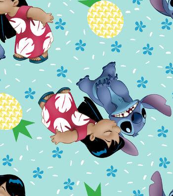 Disney Lilo & Stitch Cotton Fabric 43''-Ohana Means Family