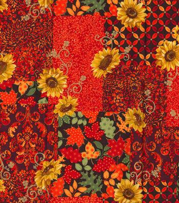 """Harvest Cotton Fabric 43""""-Autum Festival Metallic"""