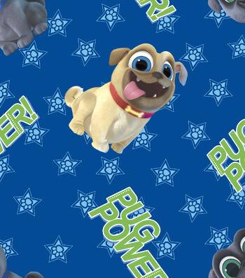 Disney Puppy Dog Pals Cotton Fabric 43''-Pug Power