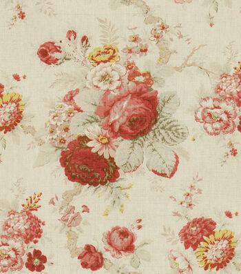 "Waverly Upholstery Fabric 54""-Norfolk Rose"