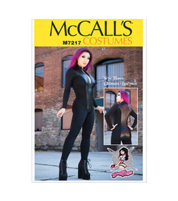 McCall's Pattern M7217-Misses' Zippered Bodysuit by Yaya Han
