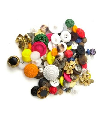 Bag of Buttons 4 oz Assorted