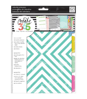 Me & My Big Ideas® Create 365 Planner Extension Pages-Teal/Gold