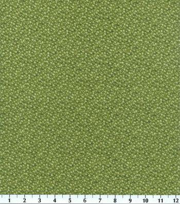 "Keepsake Calico™ Cotton Fabric 44""-Olive Illusions Floral"