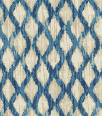 """Kelly Ripa Upholstery Fabric 54""""-Floating Trellis Indigo"""
