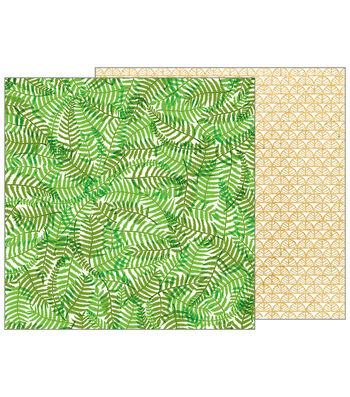 Pebbles Jen Hadfield Patio Party 12''x12'' Double-Sided Cardstock-Ferns
