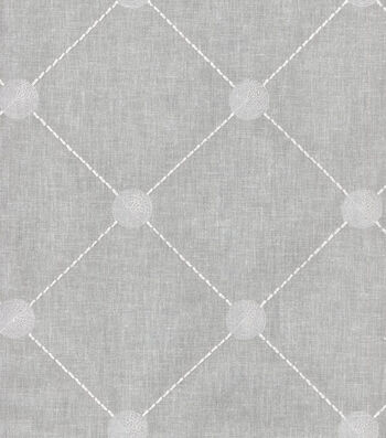 "Kelly Ripa Multi-Purpose Decor Fabric 52""-Fanfare Embroidery Cloud"