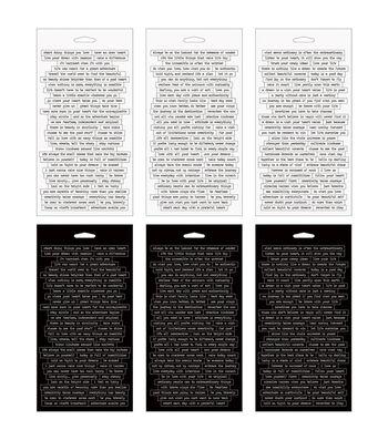 """Tim Holtz Idea-Ology Spiral Bound Sticker Book 4.5""""X8.5""""-Small Talk"""