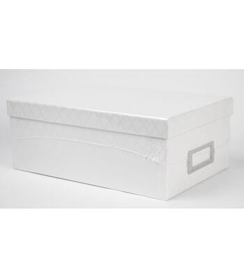 DCWV White Quatrefoil Storage Box