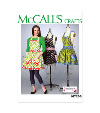 McCall's Pattern M7208 Misses' Aprons-Size XS-XL