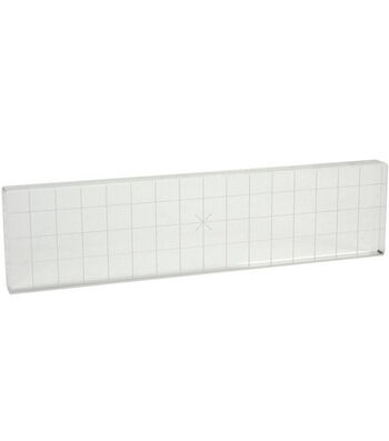 """Acrylic Stamp Block 2""""X8"""" With Alignment Grid"""