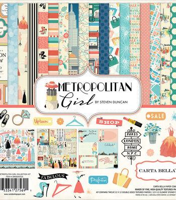 "Carta Bella Collection Kit 12""X12""-Metropolitan Girl"