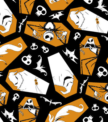 "Halloween Cotton Fabric 43""-Jack Zero & Oogie Boogie Toss"