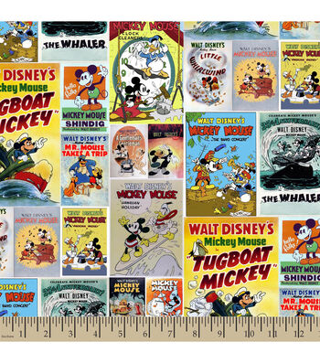 Disney Mickey and Friends Posters Cotton Fabric