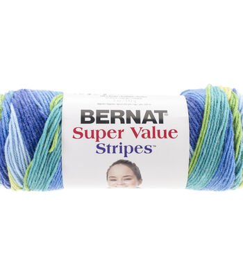 Bernat Super Value Stripes Yarn
