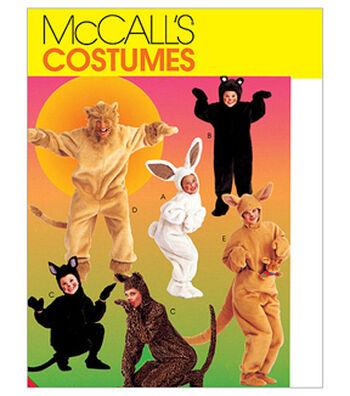 McCall's Pattern M6106 Adults' & Kids' Animal Costumes