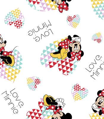"Disney® Minnie Mouse Flannel Fabric 42""-Love"