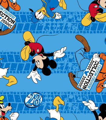 "Disney® Fleece Fabric 59""-Mickey & Friends Custom Cruisers"