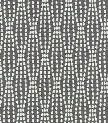 """Waverly Upholstery Fabric 55""""-Strands Charcoal"""